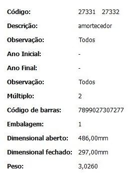 amortecedor dianteiro monroe xsara picasso  27331/2 (par)