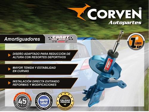 amortiguador juego x2 delantero honda crv 97 / 01  corven
