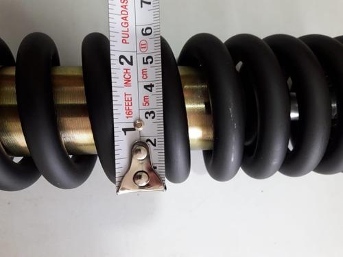 amortiguador trasero monoshok ajustable italika dm200 negro