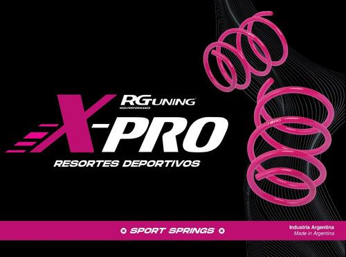amortiguadores cortos espirales xpro 206 207 rgkit cuotas
