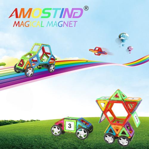 amóstico teja magnética bloque de construcción imán apilamie