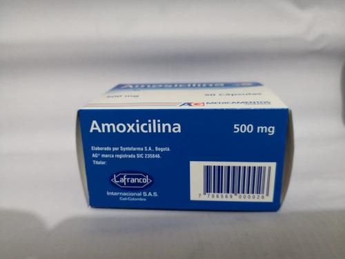 amoxicilina 500 mg caja x 50 capsulas