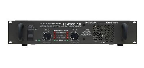 amp de potência 2ch 1125w w powerii 4500 ab - ciclotron