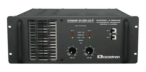 amp dynamic 20000 2ch 5000w rms (total) 2 ohms h - ciclotron