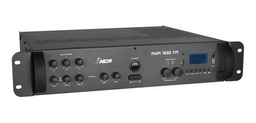 amp som ambiente 400w rms ( total ) c/ usb pwm1600fm nca