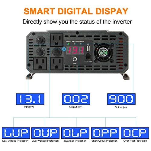 ampeak 2000w potencia del inversor 12v dc a 110v ac inversor