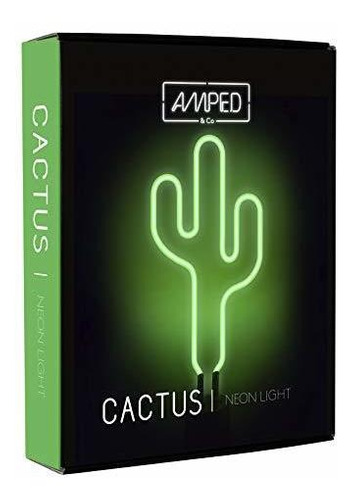 amped y co cactus de neon luz de computadora, verde