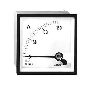 amperimetro 96x96 clase 1.5 rel 150/5