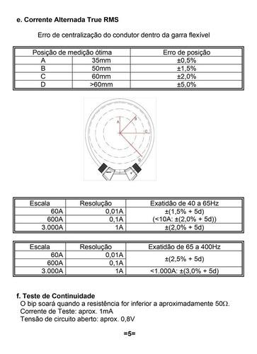amperímetro ad-5200 icel altitude: até 2.000 metros
