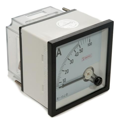 amperimetro analogico 72x72mm medição direta 50a