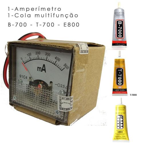 amperímetro analógico cola t-7000 mais carregador universal