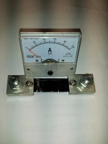 amperímetro de aguja 100a dc  //200vdc ledion