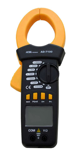 amperímetro icel manaus ad-7100 corrente ac 20/200/2000a