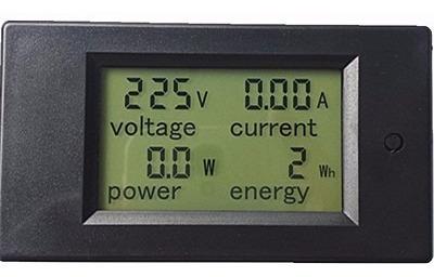 amperímetro voltímetro wattímetro digital 80-260v ac 100a tc
