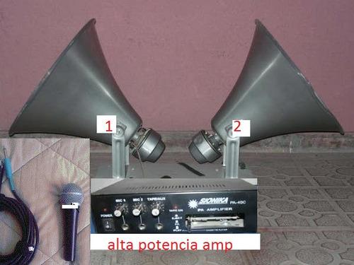 ampli pack public adress potencia 12v y 220 v`mercadopago