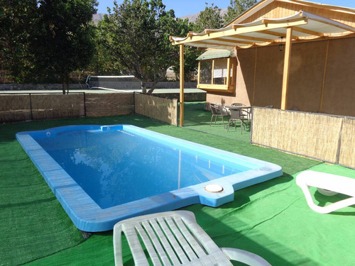 amplia cabaña en valle de elqui c/ piscina exclusiva