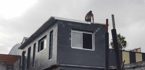ampliación planta alta rápida techos y muros placas autoport