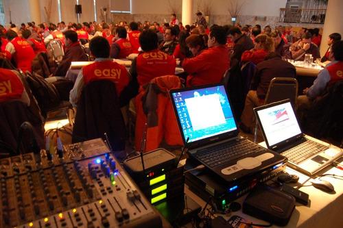 amplificación para eventos (iluminación, vídeo, fotografía)