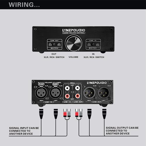 amplificador 0 nceada completa linepaudio a967 pasiva negro