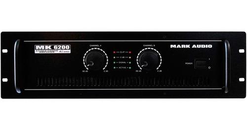 amplificador 1200w 4 ohms mk 6200 - mark audio