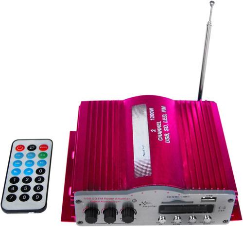 amplificador 1200w reales usb/sd radio fm para moto o casa