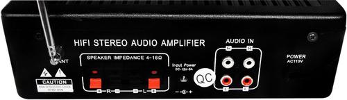 amplificador 150w para perifoneo usb/sd efecto eco radio fm.