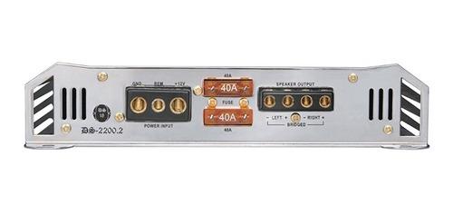 amplificador 2 canales ds18 2200 watts 2200.2 en tienda