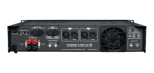 amplificador 2 ch ab 1000w rms (total) dynamic4000 ciclotron