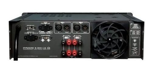 amplificador 2000w 2ohms dynamic 8000 ab - ciclotron