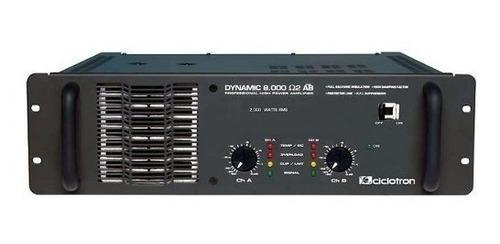 amplificador 2000w dynamic 8000 ab ciclotron