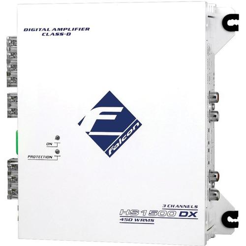 amplificador 3 canais 450w rms 2 ohm mono/stereo digital
