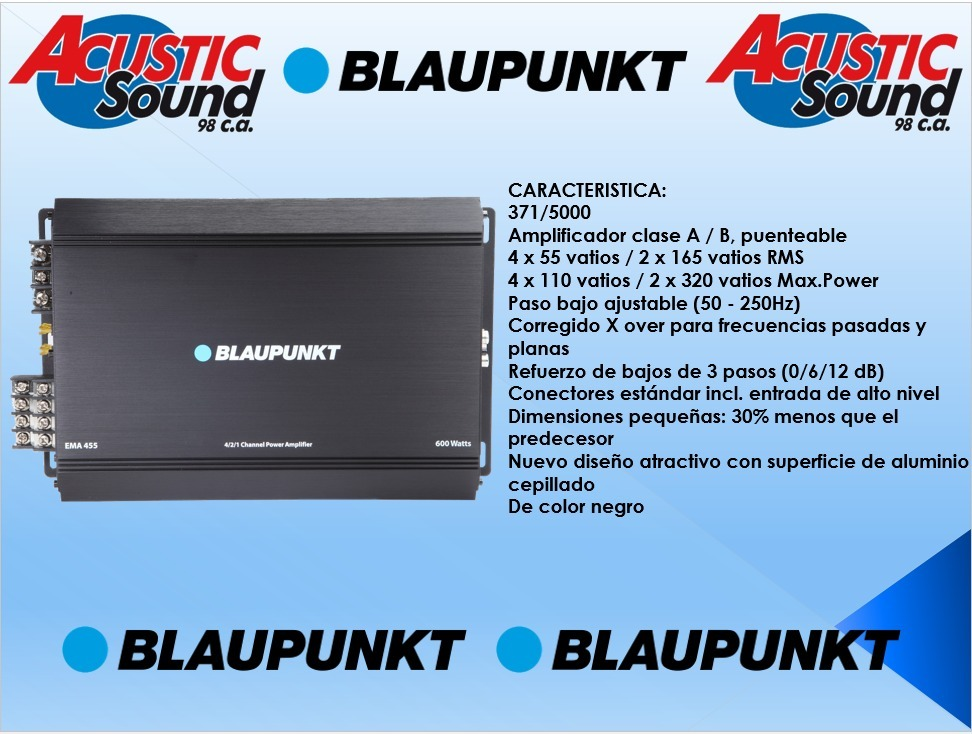 amplificador 4 canales blaupunkt ema 455. Cargando zoom.