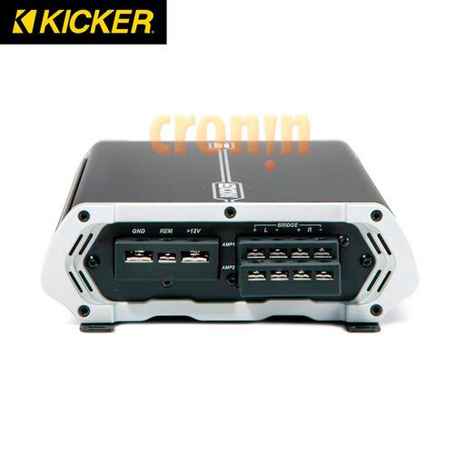 amplificador 4 canales kicker dax250.4 30 watts rms x 4