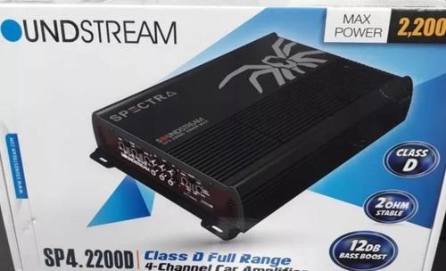 amplificador 4 canales soundstream sp4.2200d