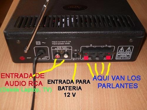 amplificador 60w, radio, bluetooth,microfono, eco,usb, jomar