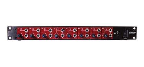amplificador 8 fones ouvido padrão rack sha8000