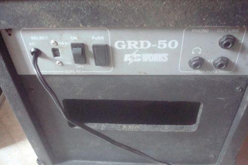 amplificador ac works grd 50 com delay e distorçao - troco