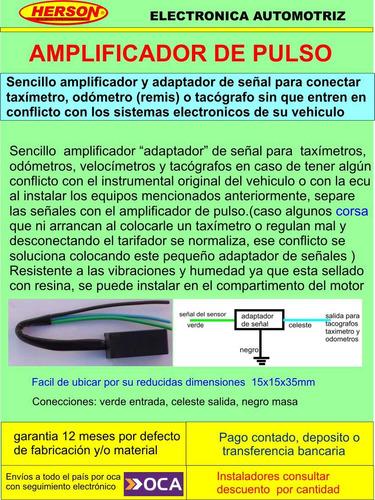 amplificador, adaptador de señal para  taxí, remis