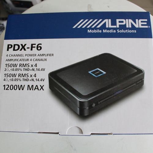amplificador alpine 4 canais 600w pdx-f6