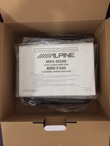 amplificador alpine mono v-power 500w mrv-m500