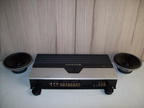 amplificador alpine mrv-f540 y componentes jl audio c5-650