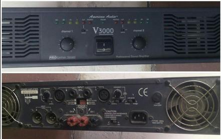 amplificador american audio v3000 / 800w rms por canal
