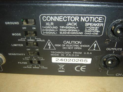 amplificador american audio vlp 600