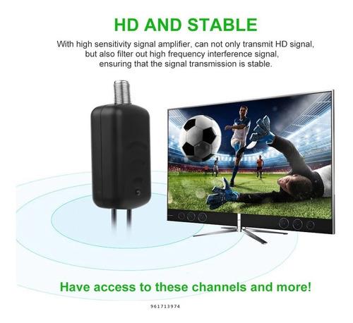 amplificador antena de señal digital tv full hd uhf/vhf