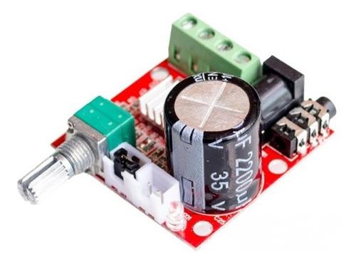 amplificador audio pam8610 variable clase d 12v hi-fi 2x 15w