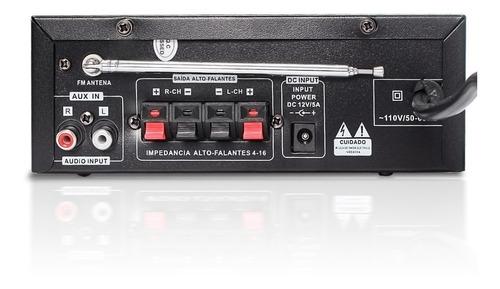 amplificador áudio receiver 200w bluetooth som ambiente usb