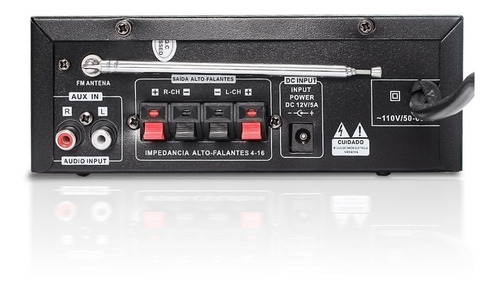 amplificador áudio receiver 200w bluetooth usb fm karaokê som ambiente
