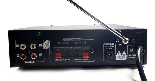 amplificador áudio receiver bluetooth som ambiente fm