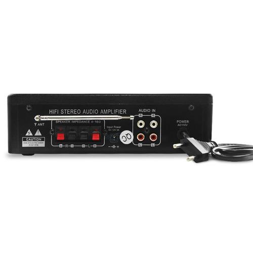 amplificador áudio receiver som ambiente fm aux rca potente