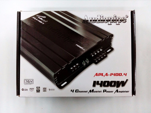 amplificador audiopipe 4 canales 1400w apla-1400.4